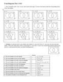 Venn Diagrams Part 2 2012 with Key (Editable)