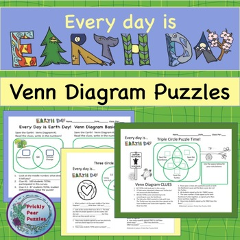 Earth Day Puzzle Venn Diagrams Puzzle Earth Day Critical Thinking Centers