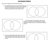 Venn Diagrams from Word Problems -- Problem solving