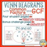 Gcf venn diagrams teaching resources teachers pay teachers venn diagrams with common factors and gcf ccuart Image collections