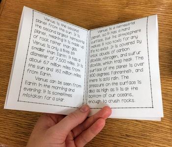 Venus Mini Book & Fact Sheet
