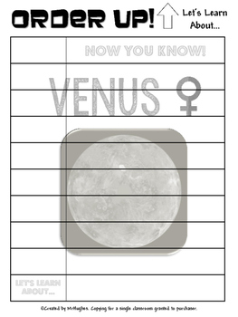 Venus - Order Up! Let's Learn About... Our Solar System