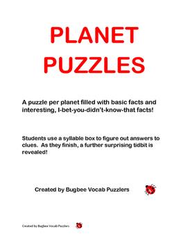 Venus Word Puzzle