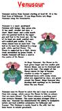 Venusaur Reading Comprehension