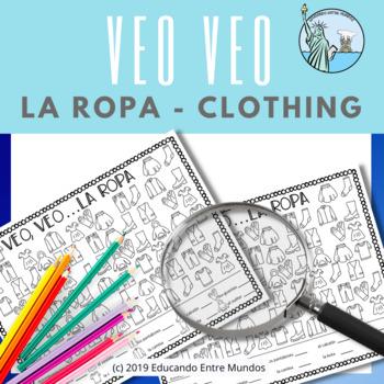Veo Veo la ropa I Spy Spanish