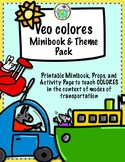 Veo colores Spanish Colors & Transportation Minibook and A