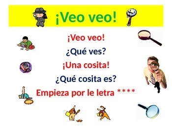¡Veo veo! I Spy With My Little Eye Spanish Teaching Resources. Starter Acitvitiy