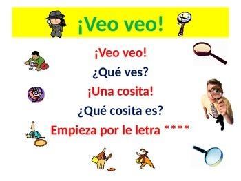 ¡Veo veo! I Spy With My Little Eye Spanish Teaching Resour