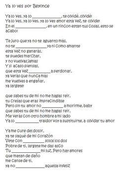 Ver, Querer Song Lyrics in Spanish