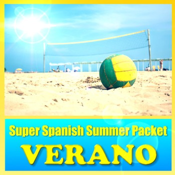 Verano - Summer Multimedia Review Packet Spanish 1 to 2