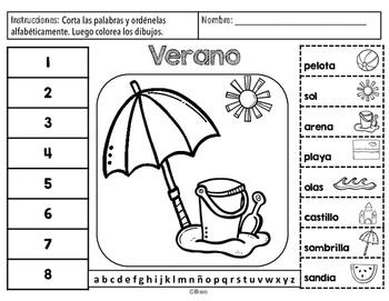 Verano - Summer vocabulary activity