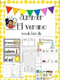 Summer/El Verano Vocab Bundle/Centers-Spanish