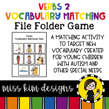 Verb 2 Vocabulary Folder Game for Early Childhood Special