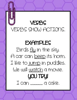 Verb Activity Packet