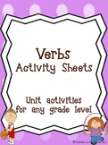 Verb Activity Worksheets
