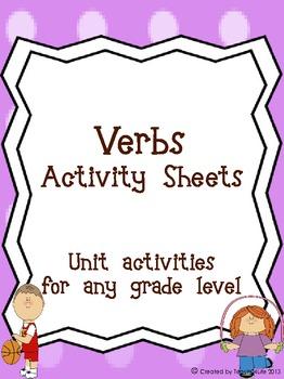 Verb Activity Worksheets