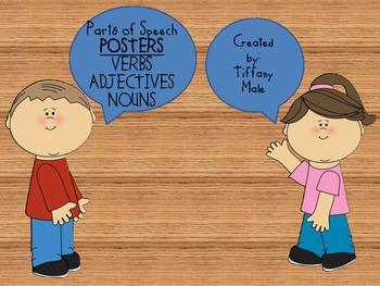 Verb, Adjective, Noun posters