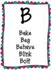 Verb Alphabet Cards