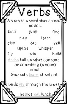 Action Verb Anchor Chart