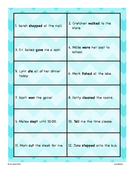 Verb BINGO {Differentiated}