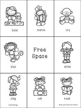 Verb Bingo (Regular & Irregular Verbs)