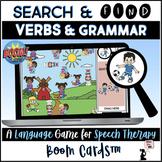 Verb BOOM Cards™ - Search & Find Game- Verbs & Grammar Distance Learning Speech