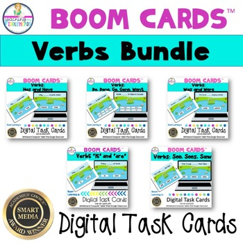 Verb Bundle Boom Digital Task Cards
