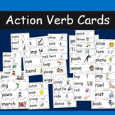 Verb Cards- 52 different action verbs with pictures