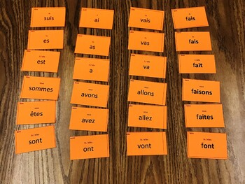 Ça Bouge ! Verb Cards Manipulatives Template