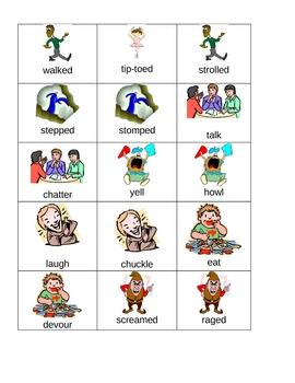 Verb Center Sort: Stong Verbs & Weak Verbs