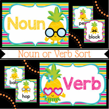 Verb Centers | 5 Hawaiian Themed Centers
