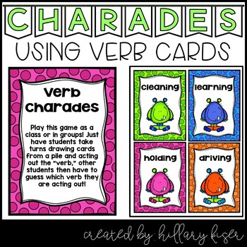 Verb Charade Cards