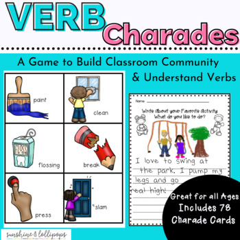 Parts of Speech Verb Charades A Fun Game Anytime to Reinforce Verbs Dollar Deal