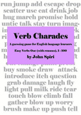 Verb Charades: Easy Verbs One (with reasons)