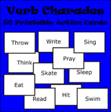 Verb Charades Card Game