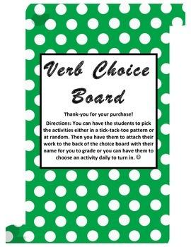 Verb Choice Board