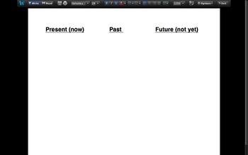 Verb Classifying Chart