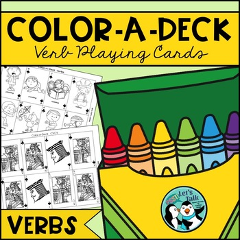 Verb Color-A-Deck for Language Therapy