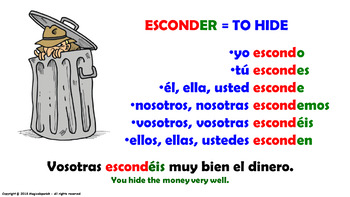 "Verb Conjugation -Present Tense /12 Regular Verbs Ending in –""AR"" (PPT #10)"