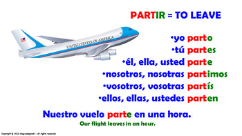 "Verb Conjugation -Present Tense /12 Regular Verbs Ending in –""IR"" (PPT #13)"