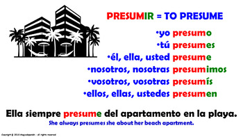 "Verb Conjugation -Present Tense /12 Regular Verbs Ending in –""IR"" (PPT  #15)"