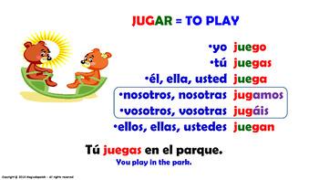 Verb Conjugation -Present Tense. / 12 Irregular Verbs (PPT #17)