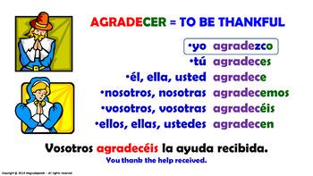 Verb Conjugation -Present Tense. / 12 Irregular Verbs (PPT  #18)