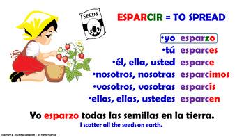 "Verb Conjugation -Present Tense /12 Irregular Verbs Ending -""CIR"" (PPT #19)"