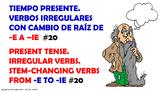 "Verb Conjugation –Present Tense. / 12 Stem-Changing Verbs -""E-IE"" (PPT #20)"