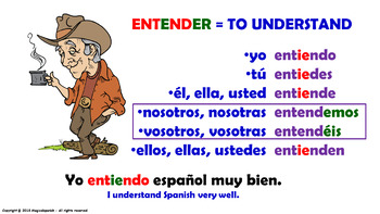 "Verb Conjugation –Present Tense/12 Stem-Changing Verbs -""E-IE"" (PPT #21)"