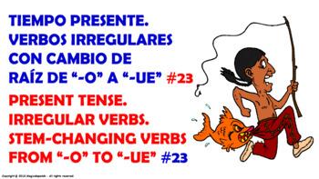 "Verb Conjugation –Present Tense/12 Stem-Changing Verbs -""O"