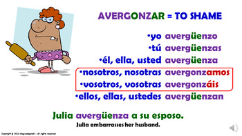 "Verb Conjugation -Present Tense/12 Stem-Changing Verbs -""O-UE"" (PPT #25)"