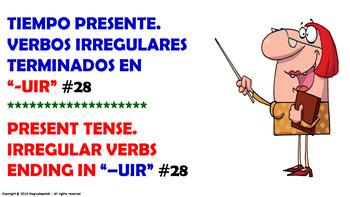 Verb Conjugation –Present Tense/12 Irregular Verbs Ending