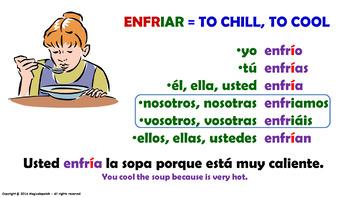 Verb Conjugation –Present Tense/12 Irregu. Verbs Ending in –IAR (PPT #29)